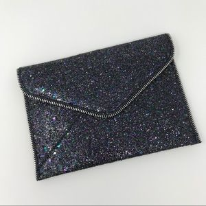 NEW! Navy Glitter Envelope Clutch